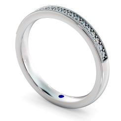 PAVO Round cut Vintage Half Eternity Band - white