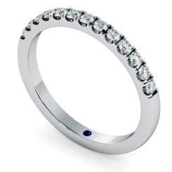 PHOENIX Round cut Half Diamond Eternity Ring - 1.7mm width, SI / F-G - white