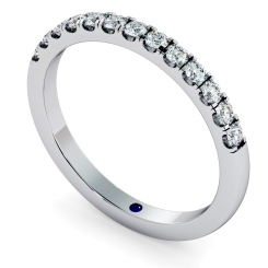 PHOENIX Round cut Half Diamond Eternity Ring - 2.5mm width, VVS / D-E - white