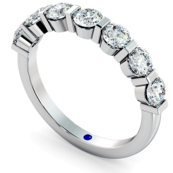 ARIES Round cut 7 Stone Diamond Eternity Ring - white