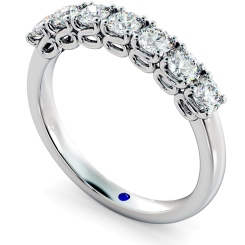 VIRGO 7 Stone Round cut Twisted Eternity Ring - white