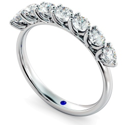 LIBRA Round cut 7 Stone Diamond Eternity Ring - white