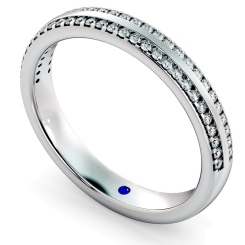 SARGAS Double row Round cut Half Eternity Ring - white