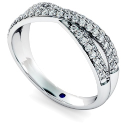 ORION Designer Crossover Round cut Diamond Eternity Ring - white