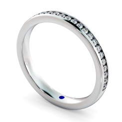 AURIGA 60% Round cut Half Eternity Ring - white