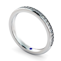 APUS 60% Micro Pave set Half Eternity Ring - white