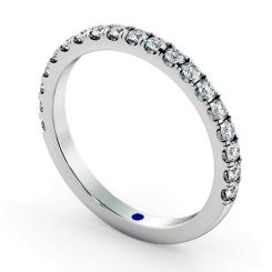 PHOENIX 60% Round cut Half Diamond Eternity Ring - white