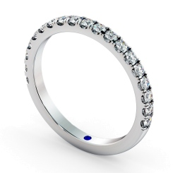 PHOENIX 60% Round cut Half Diamond Eternity Ring - 3mm width, VS / F-G - white