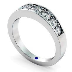 VEGA Graduating 7 stone Round cut Diamond Eternity Ring - white
