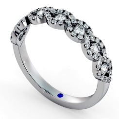 SIRIUS Round cut Crossover Designer Diamond Eternity Ring - white
