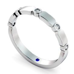 CARINA 5 Stone Round cut Diamond Designer Half Eternity Ring - white