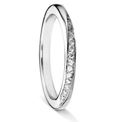 CANIS Twisted Round cut Diamond Eternity Ring - white