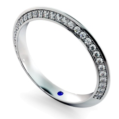 ALYA Knife Edge Round cut Single Sided Diamond Eternity Band - white