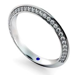 ALYA Knife Edge Round cut Single Sided Diamond Eternity Band - white
