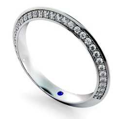 ALCOR Knife Edge Round cut Double Sided Diamond Eternity Band - white