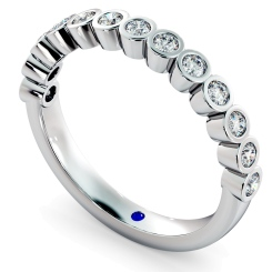 CURSA Bezel set Round cut Half Eternity Diamond Ring - white