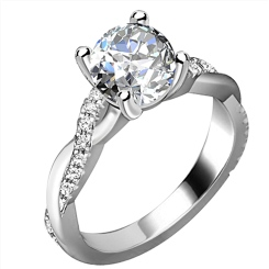 HRRSD1594 1.30CT I1/F ROUND DIAMOND SHOULDER SET RING - white