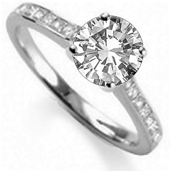HRRSD1596 1.00CT VS2/F ROUND DIAMOND SHOULDER SET RING - white