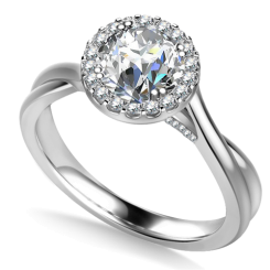 HRRSD1634 1.00CT VS2/F ROUND DIAMOND HALO RING - white