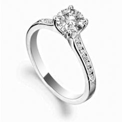 HRRSD1641 0.75CT SI2/G ROUND DIAMOND SHOULDER SET RING - white_3