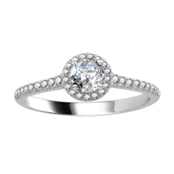 HRRSD1651 0.50CT VS/EF PETITE ROUND DIAMOND HALO RING - white