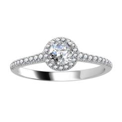 HRRSD1652 0.50CT VS/EF PETITE ROUND DIAMOND HALO RING - white