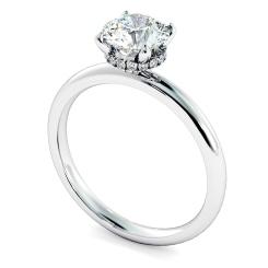 HRRSD2360 Hidden Halo Diamond Ring - white