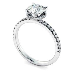 HRRSD2361 Hidden Halo Diamond Ring - white