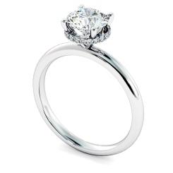 HRRSD2362 Hidden Halo Diamond Ring - white