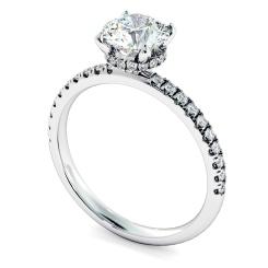 HRRSD2363 Hidden Halo Diamond Ring - white