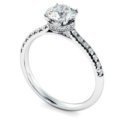 HRRSD2364 Hidden Halo Diamond Ring - white