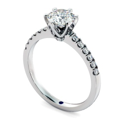 HRRSD797 Round Shoulder Diamond Ring - white