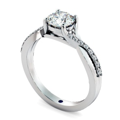 HRRSD798 Round Shoulder Diamond Ring - white