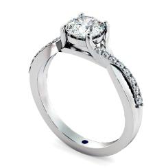 HRRSD798 Round Shoulder Diamond Ring - white