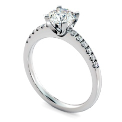 HRRSD799 Round Shoulder Diamond Ring - white