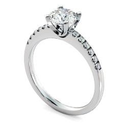 HRRSD799 Round Shoulder Diamond Ring - white