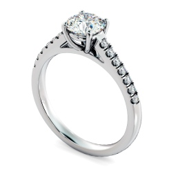 HRRSD800 Round Shoulder Diamond Ring - white