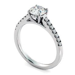 HRRSD800 Round Shoulder Diamond Ring - white
