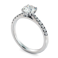 HRRSD801 Round Shoulder Diamond Ring - white