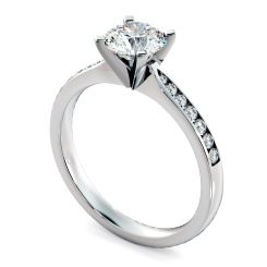 HRRSD802 Round Shoulder Diamond Ring - white
