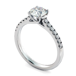 HRRSD804 Round Shoulder Diamond Ring - white