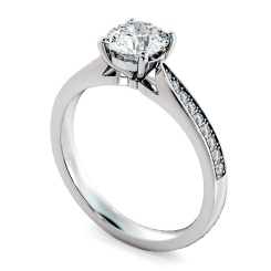 HRRSD805 Round Shoulder Diamond Ring - white