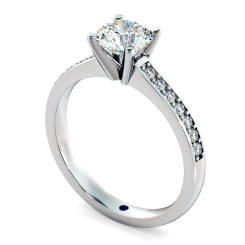 HRRSD806 Round Shoulder Diamond Ring - white