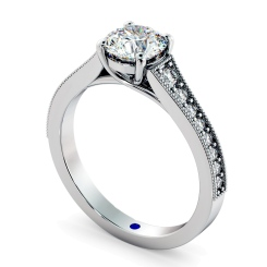 HRRSD807 Round Shoulder Diamond Ring - white