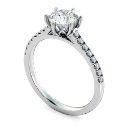 HRRSD810 Round Shoulder Diamond Ring - white