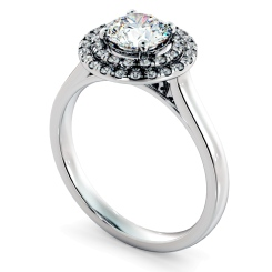 HRRSD823 Round Halo Diamond Ring - white