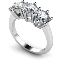 HRRTR90 3 Round Diamonds Trilogy Ring 0.30ct / H-I / I1 - white