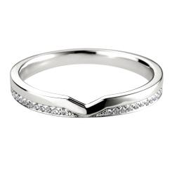HRRWB003 V Cut-Out Diamond Wedding Ring - white