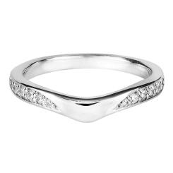 HRRWB007 Round cut Diamond Shaped Wedding Ring - white