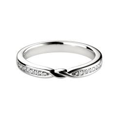 HRRWB016 Round cut Diamond Shaped Wedding Ring - white
